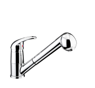 4817 - Single lever sink mixer with double jet removable shower and flexible pipes
