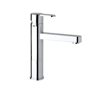 9403 - High single lever basin mixer with flexible pipes