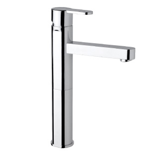 9404 - High single lever basin mixer with flexible pipes