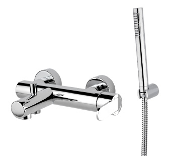 9416 - Single lever bath mixer with flexible hose and adjustable hand shower