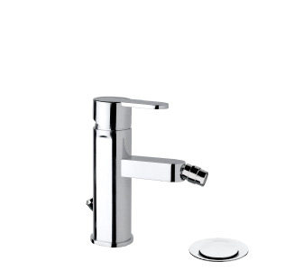 "9419 - Single lever bidet mixer with 1""1/4 pop-up waste and flexible pipes"