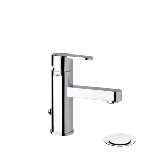 "9421 - Single lever basin mixer with 1""1/4 pop-up waste and flexible pipes"