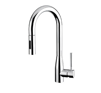 7817D - Single lever sink mixer with double jet removable shower and flexible pipe
