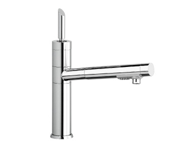 7817J - Single lever sink mixer with double jet removable shower and flexible pipe