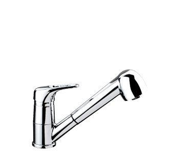 5217 - Single lever sink mixer with double jet removable shower and flexible pipe