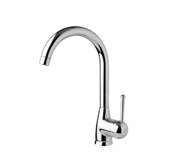 7501 - Single lever sink mixer with high spout and flexible pipes