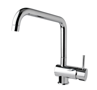 7901 - Single lever sink mixer with high spout and flexible pipes