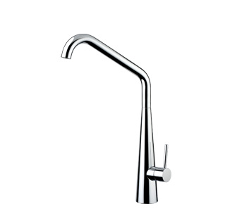 8201S - Single lever sink mixer with high spout and flexible pipe