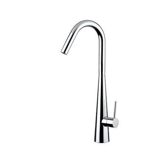 8201V - Single lever sink mixer with high spout and flexible pipe