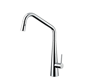 8217S - Single lever sink mixer with double jet removable shower and flexible pipes