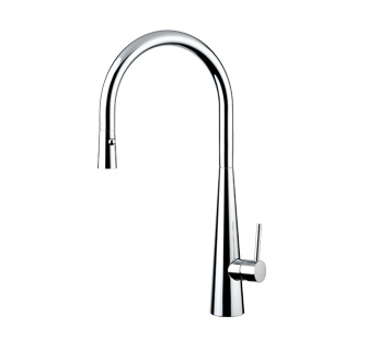 8217T - Single lever sink mixer with double jet removable shower and flexible pipes
