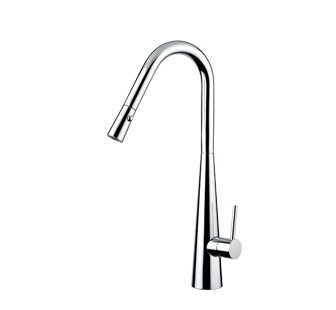 8217V -Single lever sink mixer with double jet removable shower and flexible pipes