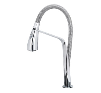 9301 - Electronic sink mixer with double jet removable shower and flexible pipes