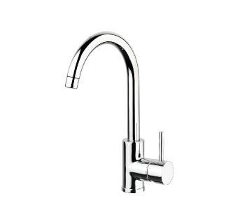 4105 - Single lever sink mixer with high spout and flexible pipes