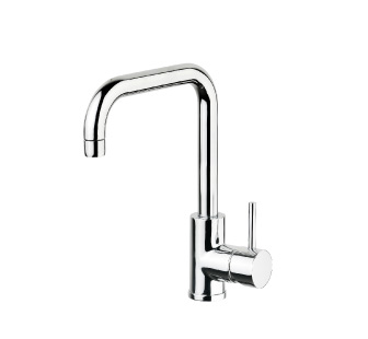 4106 - Single lever sink mixer with high spout and flexible pipes