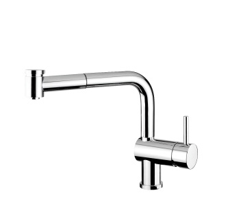 4117 - Single lever sink mixer with double jet removable shower and flexible pipe