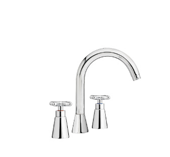 8505 - Sink mixer with high spout and flexible pipes
